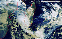 Le cyclone Haruna, qui a ravagé le sud de Madagascar - 22/02/13
