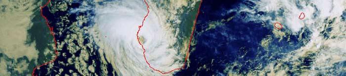 Haruna typhoon on Madagascar