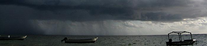 Very rare: april rain over Mangily