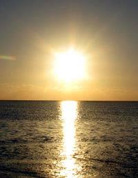 Coucher de soleil à Mangily