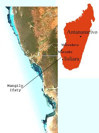 Madagascar, le lagon d'Ifaty Mangily et le centre de plongée ATIMOO