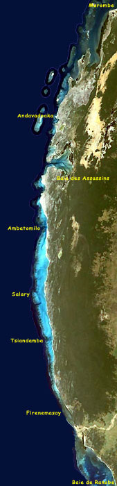The Madagascar south-western coastline